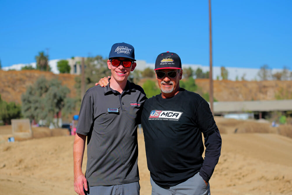 Alexander Smith (left) and USMCA coach Donnie Hansen were proud to spend a day with first-time riders.