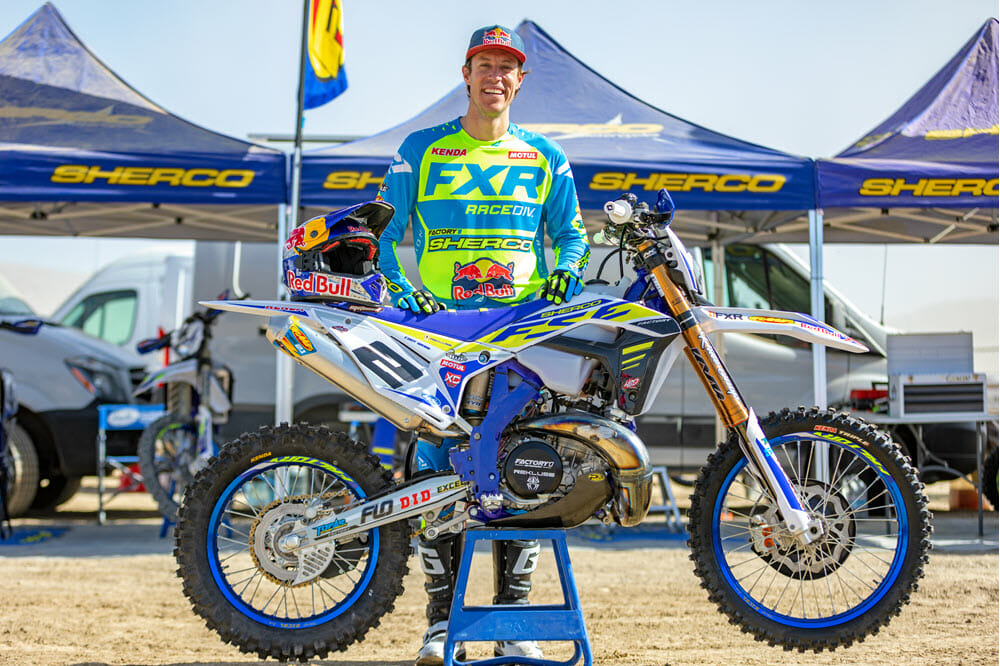 Cody Webb, the three time AMA EnduroCross champion, missed the 2019 series due to an injury but he will be back for 2020. Webb has switched over to the FactoryONE Sherco team and will be aiming to earn the French brand their first EnduroCross wins and championship. Photo: Mary Rinell.