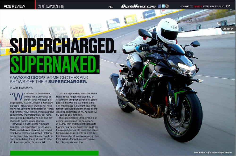 Cycle News 2020 Kawasaki Z H2 Review