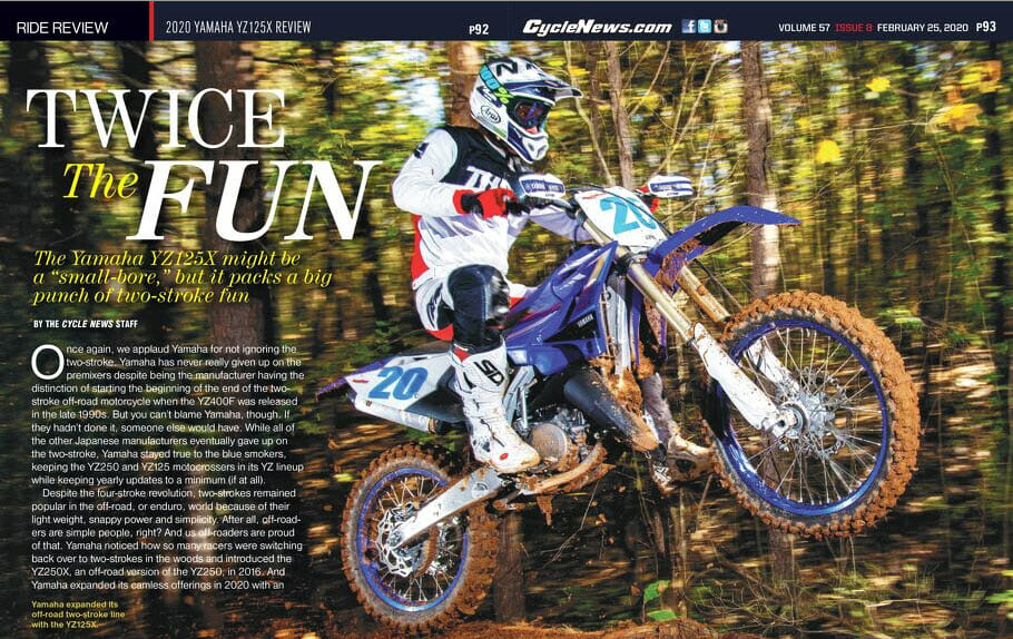 2020 Yamaha YZ125X Review
