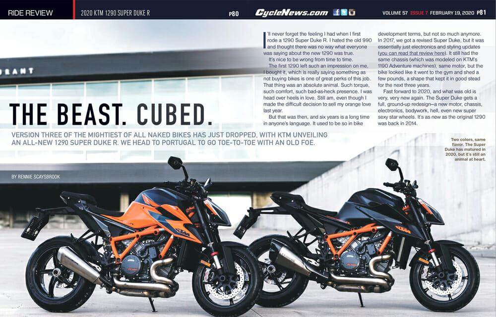 Cycle News Review 2020 KTM 1290 Super Duke R