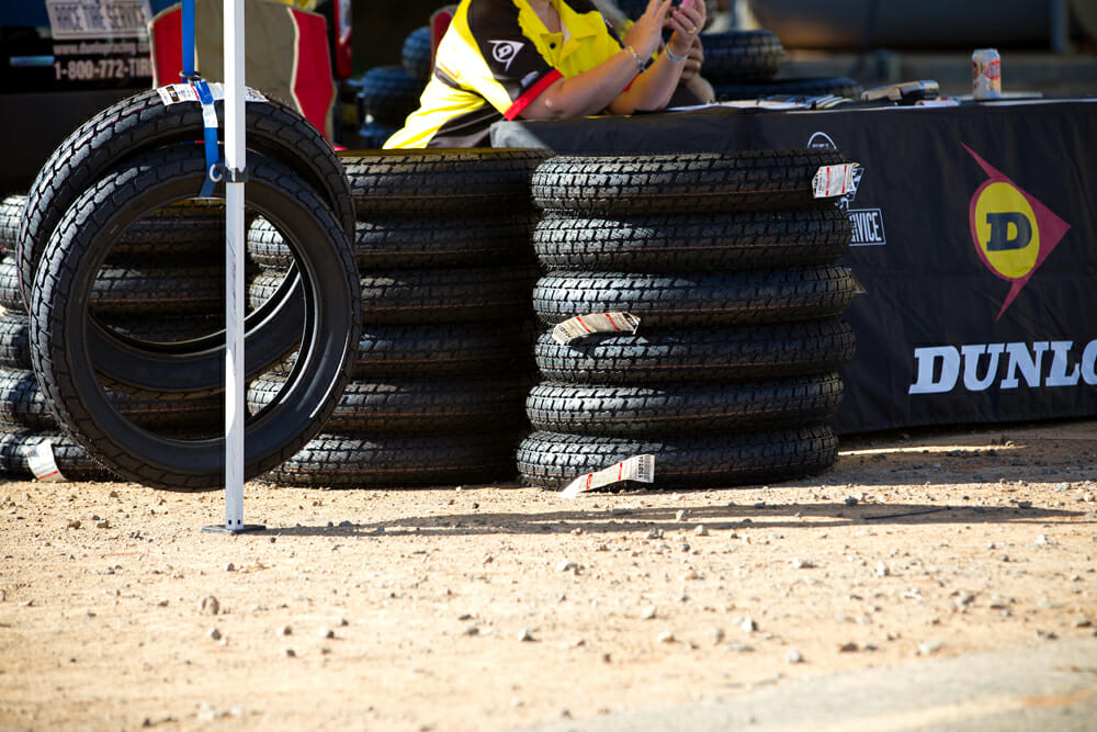 Dunlop has been the spec tire supplier for flat track racing for decades.