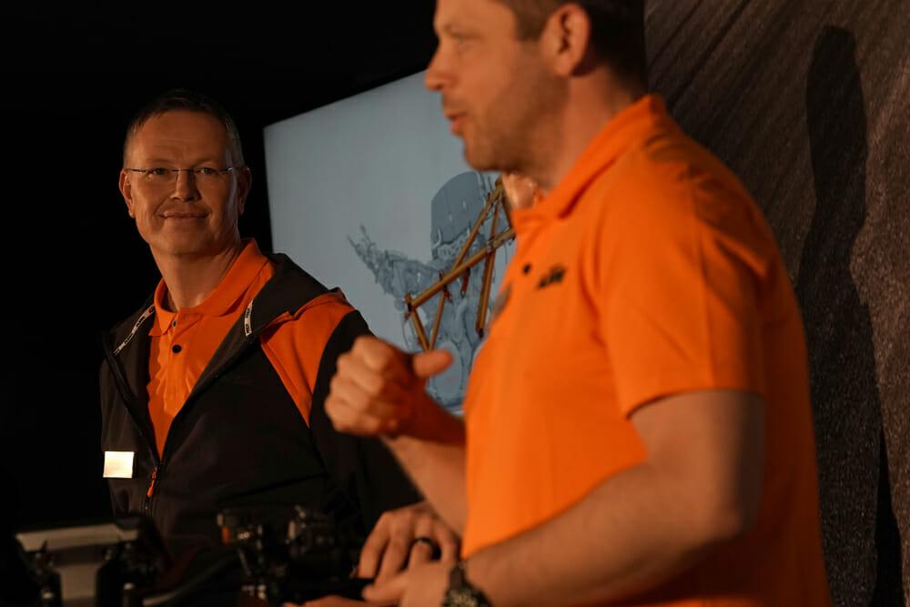 Project leader of the KTM Super Duke, Hermann Sporn