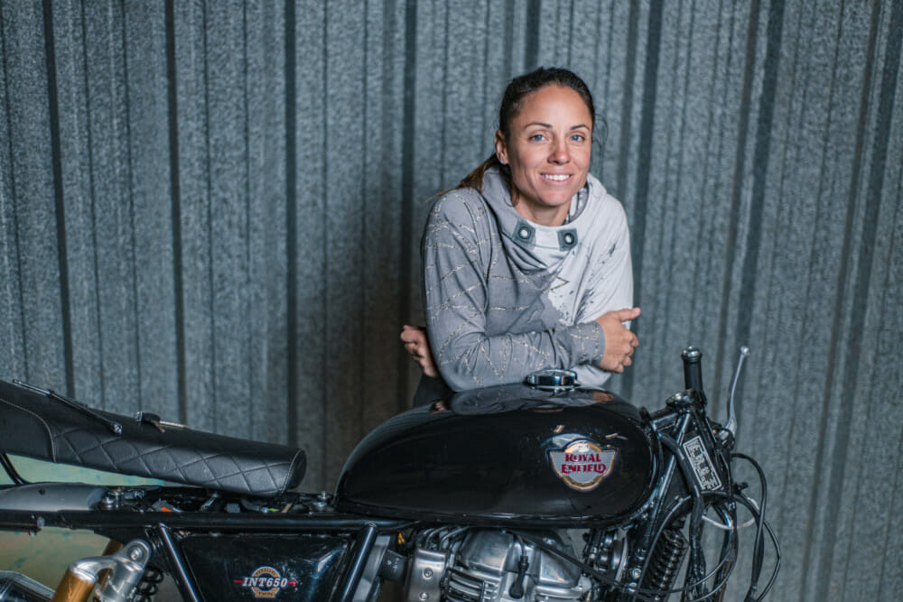 Professional road racer Melissa Paris will participate in Royal Enfield BUILD TRAIN RACE Program.