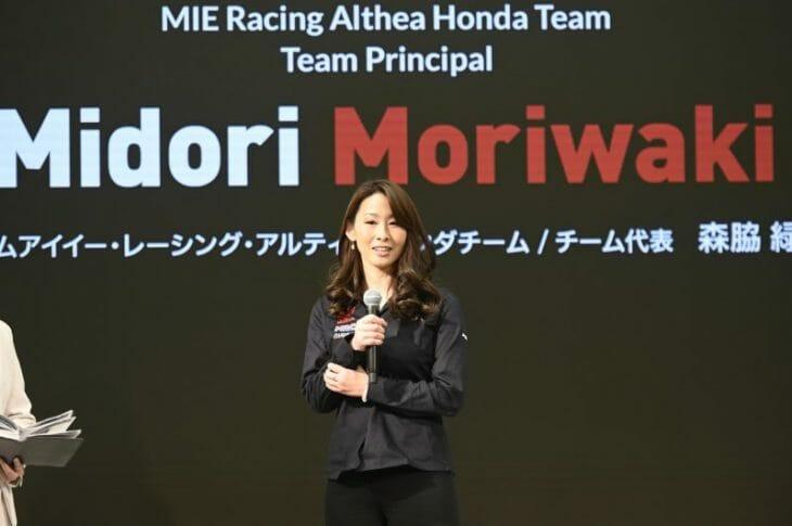 Midori Moriwaki, founder and team principal of MIE Racing / founder of Midori Corporation