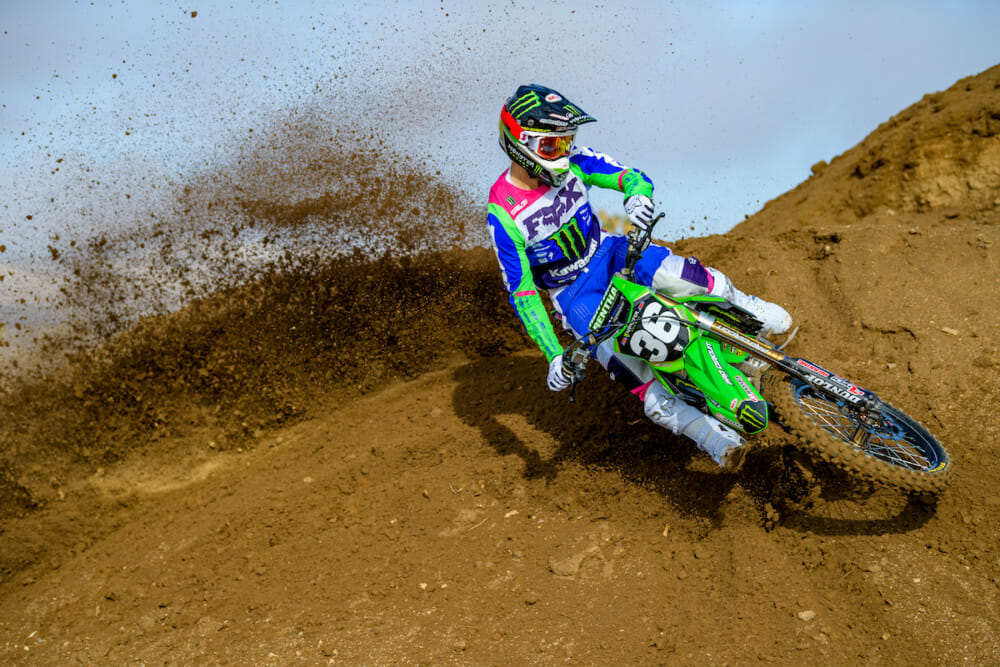 Monster Energy Pro Circuit Kawasaki rider Garrett Marchbanks