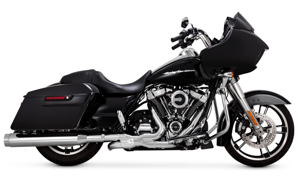 Vance & Hines H-D Torquer 450 Mufflers | The Torquer 450 slip-ons have large 4.5-inch-diameter mufflers and are 50-state emissions-compliant.
