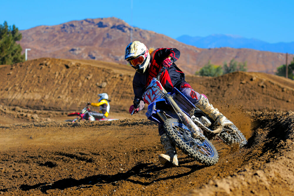 A parking lot is no place to demo a dirt bike—Jason Raines allows riders to twist a throttle on a new Yamaha in its native habitat.