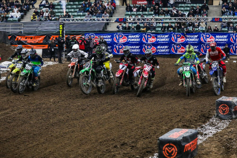 The Round Nine 250 Pro Main class on Saturday night in Reno, Nevada.