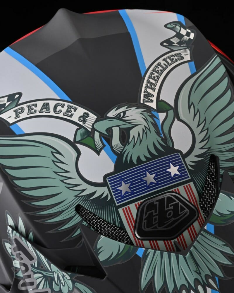 Troy Lee Designs Limited Edition Liberty Collection pays tribute to the USA with red-white-and-blue designs.