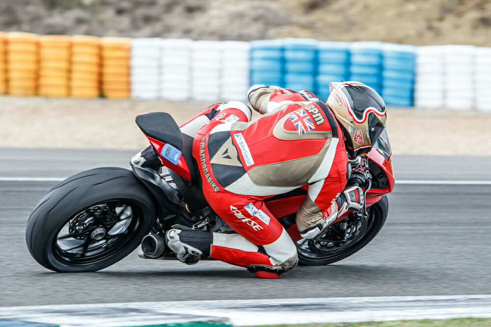 The handling of the 2020 Ducati Panigale V2 is is smooth and predictable.