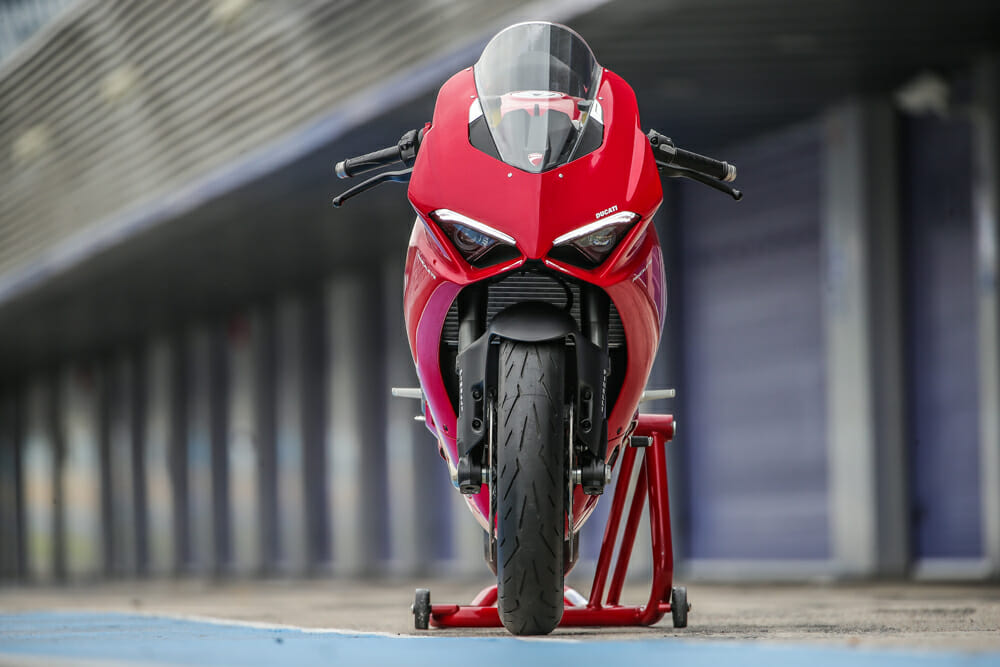 The 2020 Ducati Panigale V2 comes in red only.
