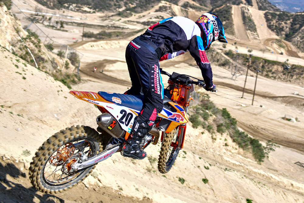 You get a lot of motorcycle for the 2020 KTM 450 SX-F Factory Edition's $11,099 price tag.