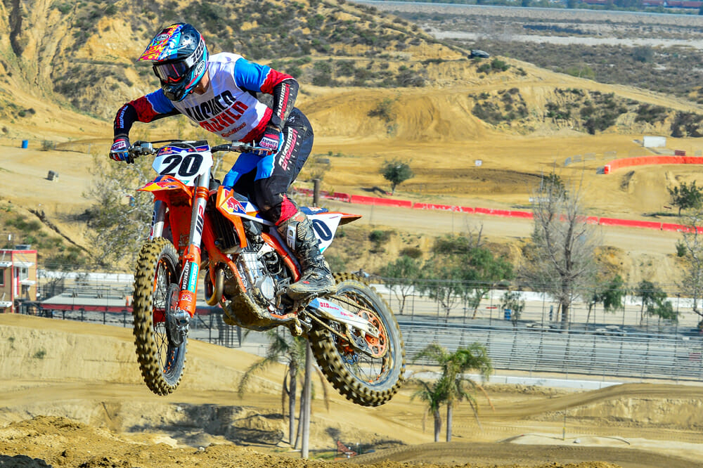 Updated forks and new engine mapping highlight the KTM 450 SX-F Factory Edition.