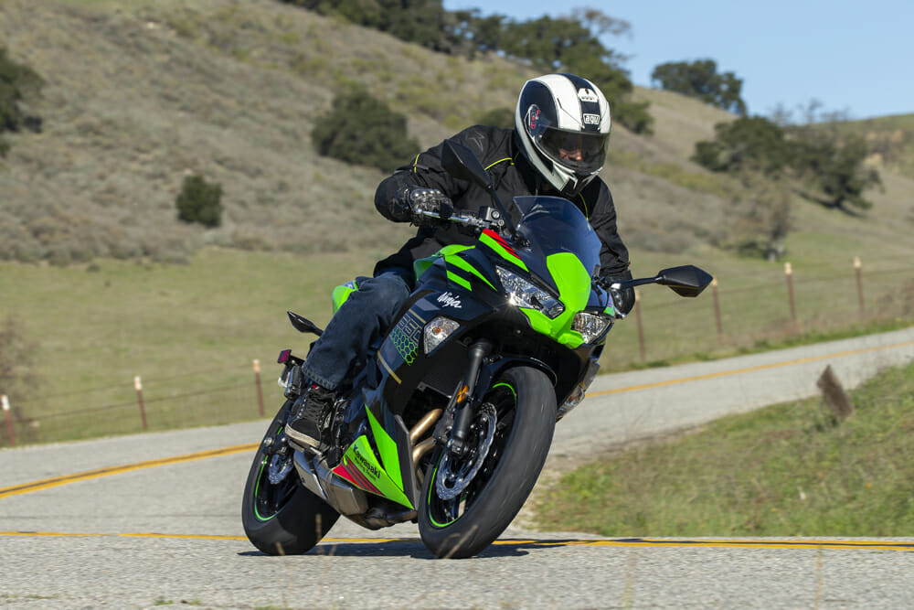 The 2020 Kawasaki Ninja 650 is the most fun on twisty backroads.