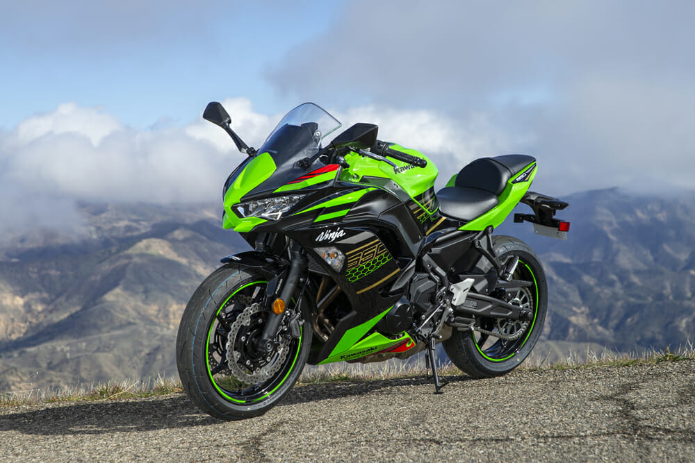 The MSRP of the 2020 Kawasaki Ninja 650 is under $10,000.