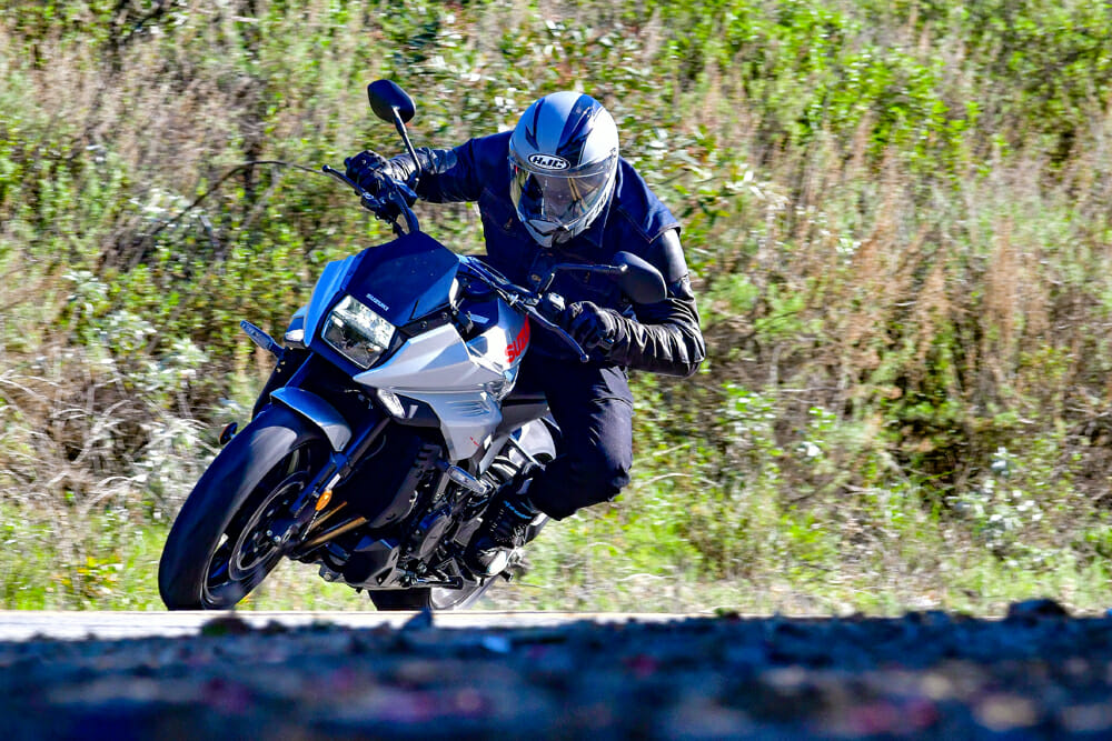In our 2020 Suzuki Katana review, we found that the Katana makes for a great canyon scratcher, with good comfort also offered while on the freeway.