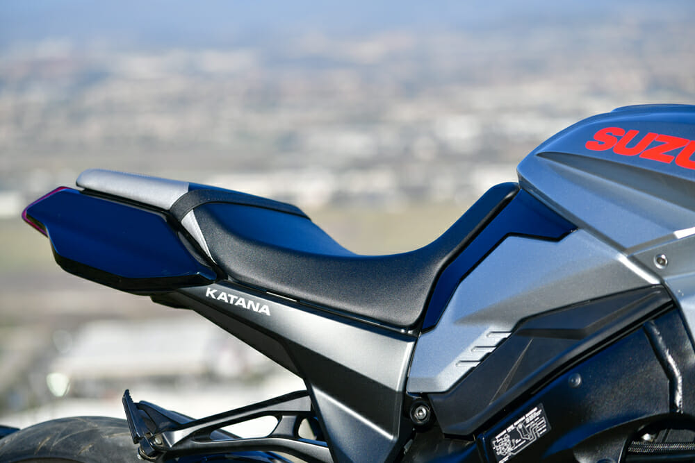 The 2020 Suzuki Katana seat and tail.