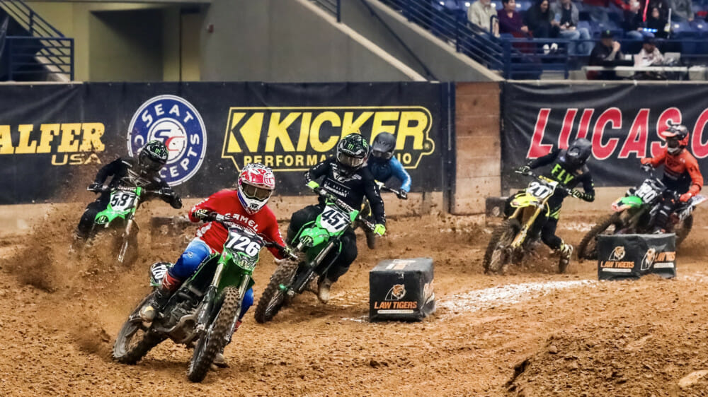 The 250 Pro Main was an exciting battle on Saturday of the Amarillo Arenacross..