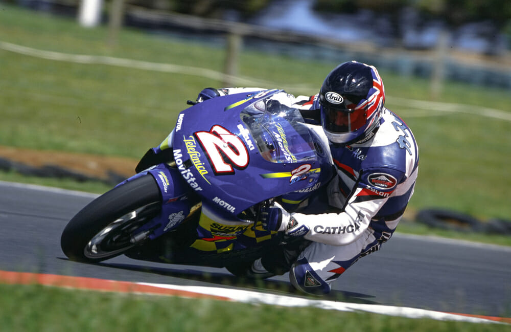 Alan Cathcart on Kenny Roberts Jr. 2000 Suzuki RGV500