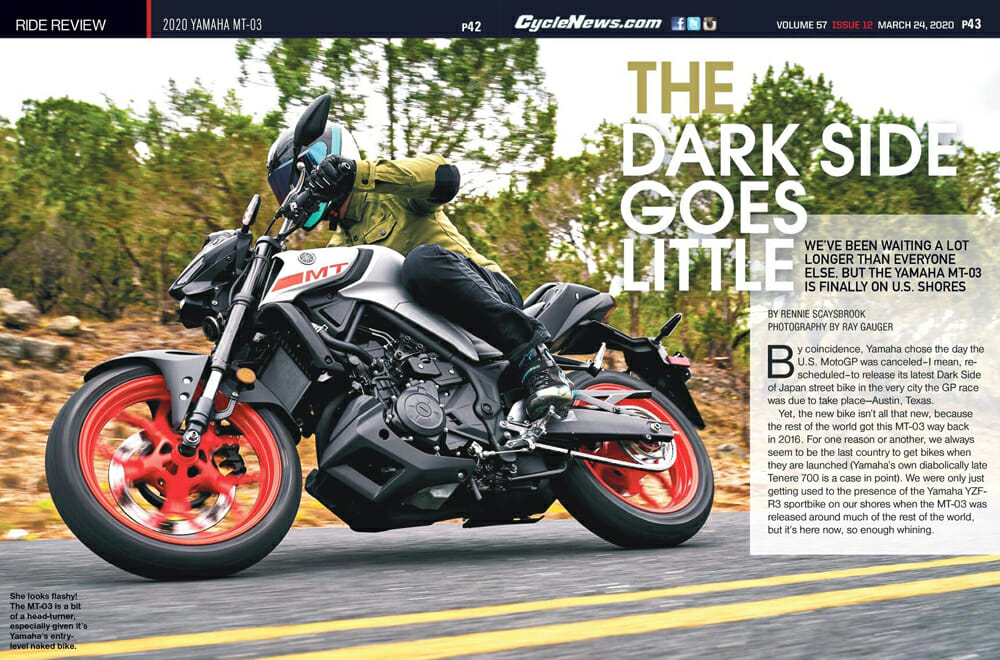 2020 Yamaha MT-03 Review | We've been waiting a lot longer than everyone else, but the Yamaha MT-03 is finally on U.S. shores.