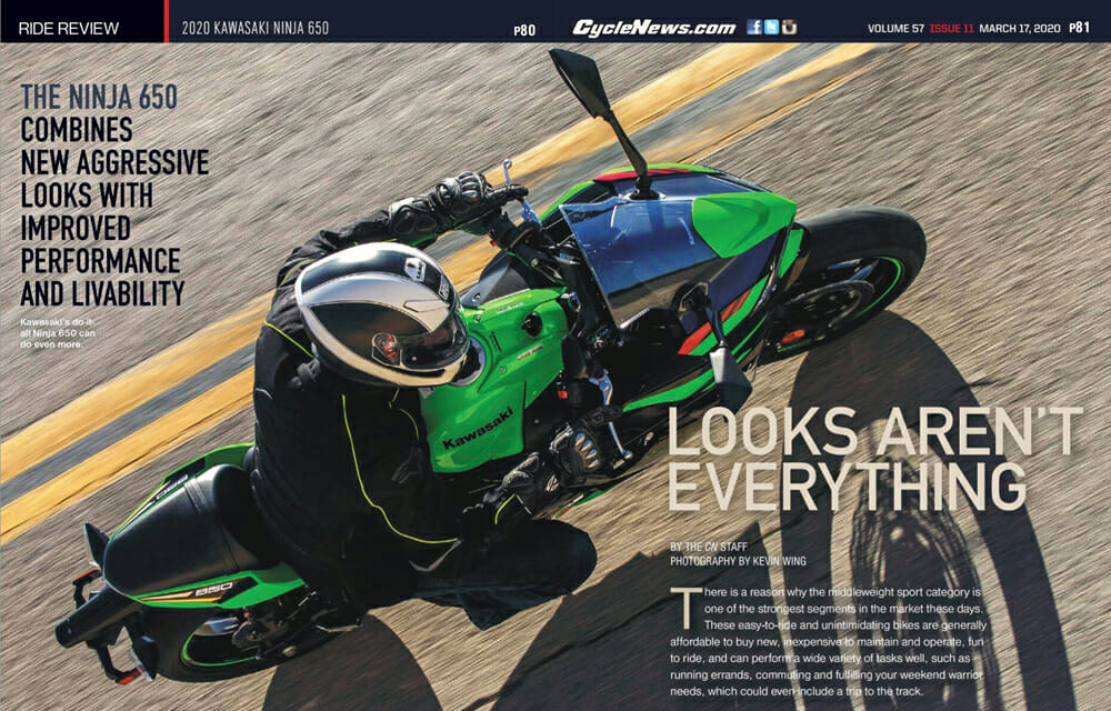 2020 Kawasaki Ninja 650 Review | The 2020 Kawasaki Ninja 650 combines new aggressive looks with improved performance and livability.