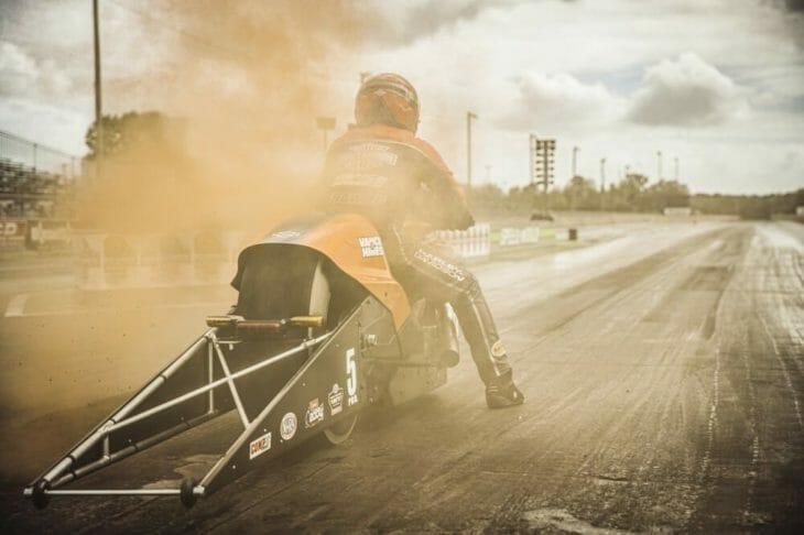 Harley-Davidson Screamin' Eagle/Vance & Hines Drag Team opens defense in Gainesville