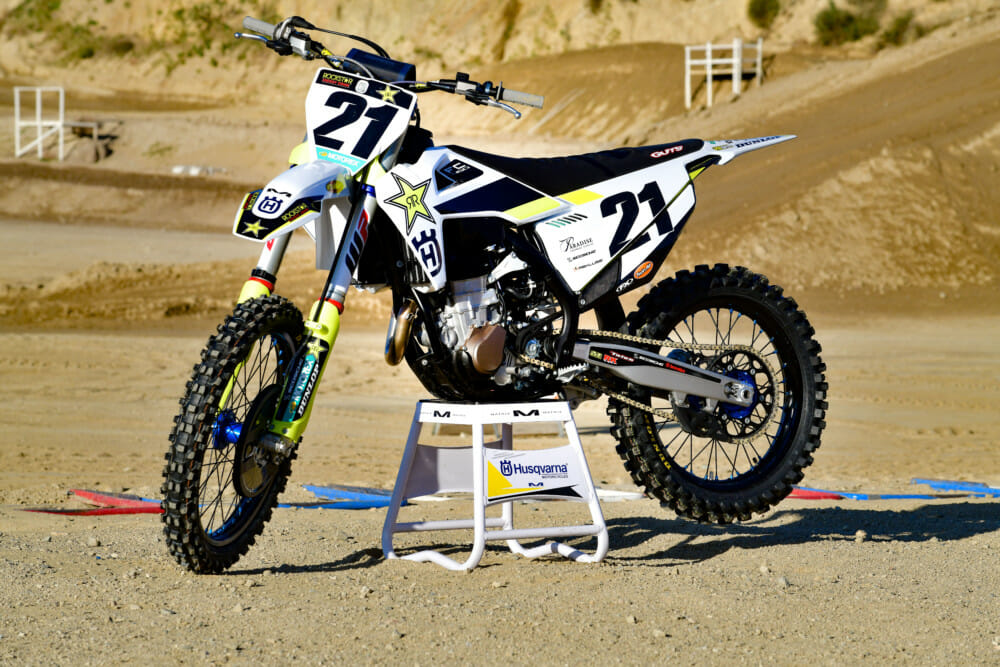 You'd be hard-pressed to point out the differences between the production Husqvarna FC 450 Rockstar Edition versus Jason Anderson's actual factory racebike.