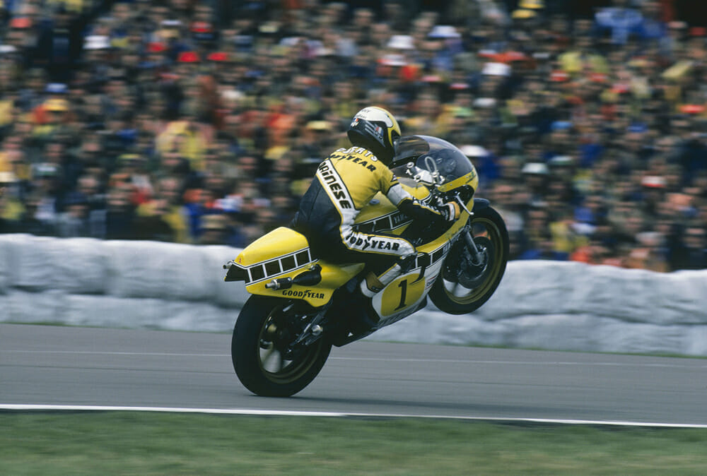 Kenny Roberts 1980 Yamaha YZR500 OW48R at 1980 Dutch GP at Assen