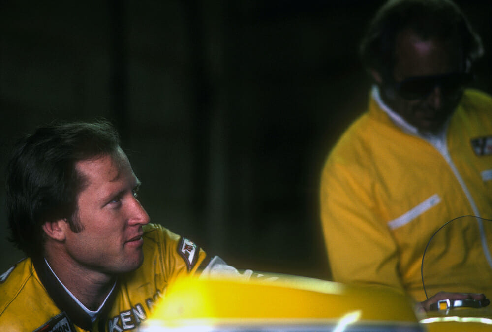 Kenny Roberts Senior and Kel Carruthers