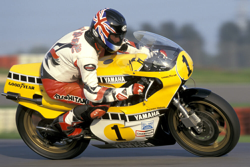 Kenny Roberts on his 1980 Yamaha YZR500 OW48R