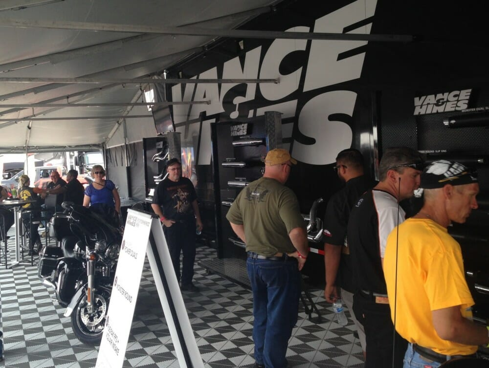 Display at the Vance & Hines 2020 Road Show