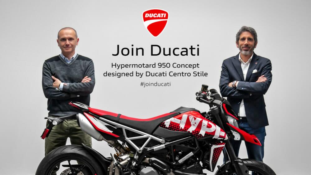 Andrea Ferraresi, Ducati Design Center Director, and Francesco Milicia, Global Sales VP