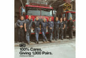 100% sent a shipment of performance protective eyewear to the United Fire Fighters of Los Angeles City