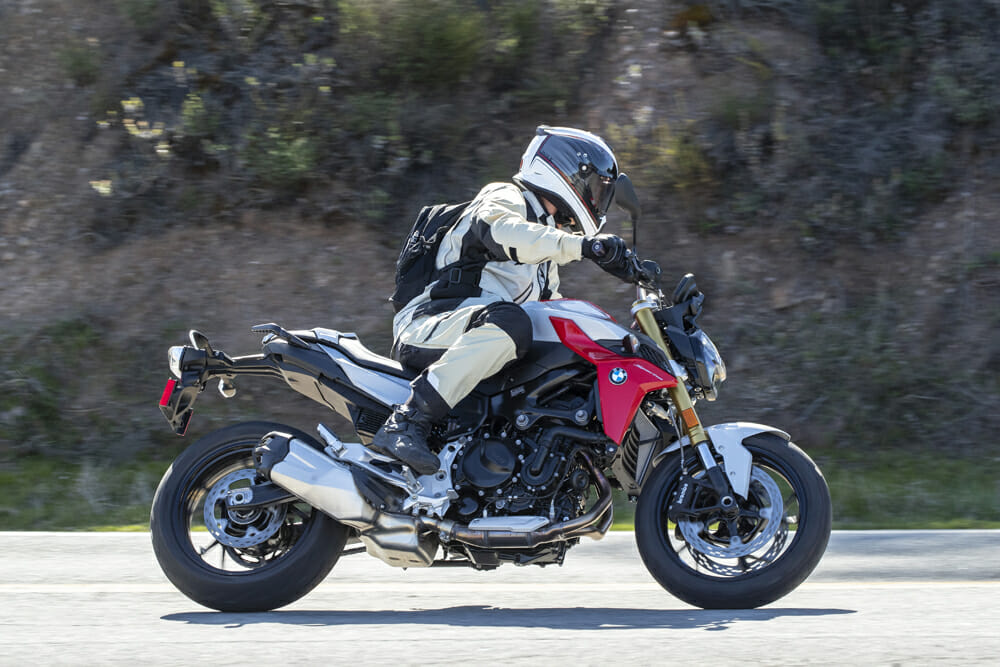 Both the 2020 BMW F 900 R and the F 900 XR are absolute blasts on twisty back roads, thanks to its torquey and spunky 895cc parallel-twin engine, that also sounds wonderful, and solid yet agile handling.