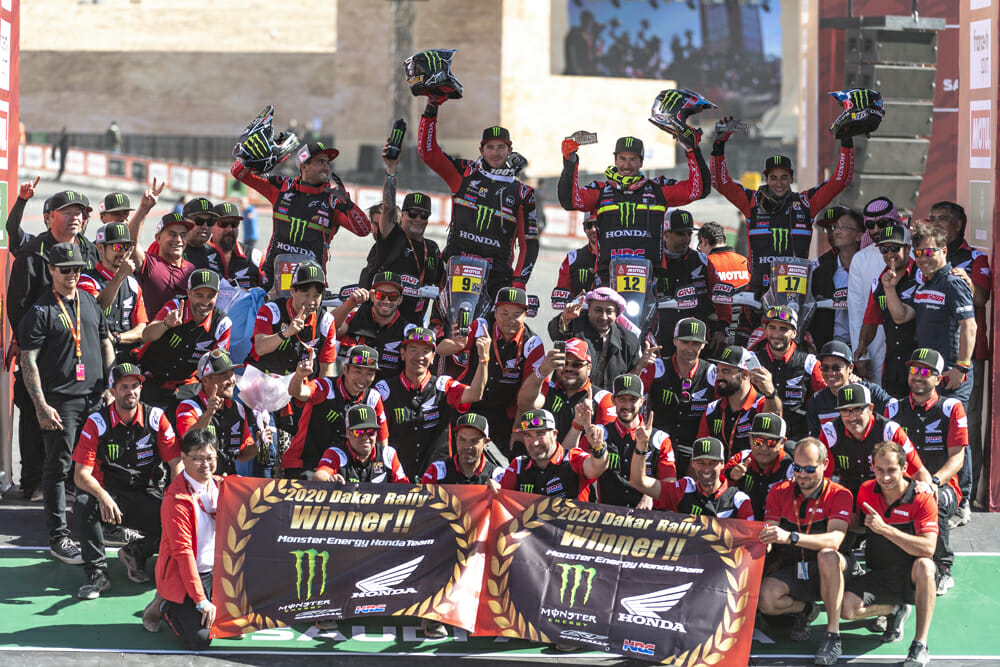 Ricky Brabec's win marked a return to the top of the Dakar podium for Honda—a long awaited goal for Big Red.