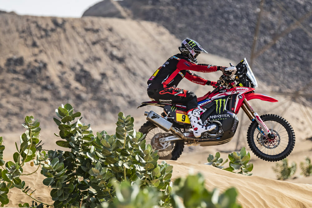 After three months of hard training in the Mojave Desert, Brabec says the Dakar Rally felt like trail riding.