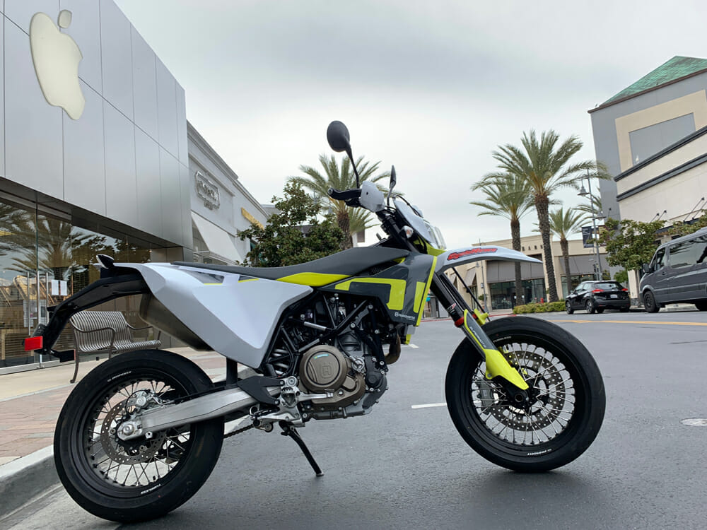If you're an urban warrior, the 2020 Husqvarna 701 Supermoto is the bike for you.