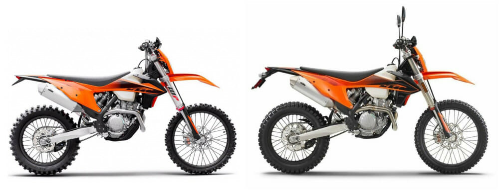 2020 KTM 350 EXC-F and 350 XCF-W Specifications