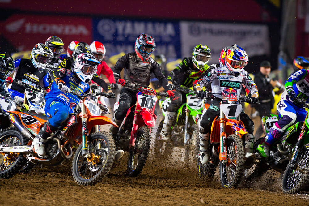Supercross was enjoying one of its best seasons ever when things sadly came to a stop.