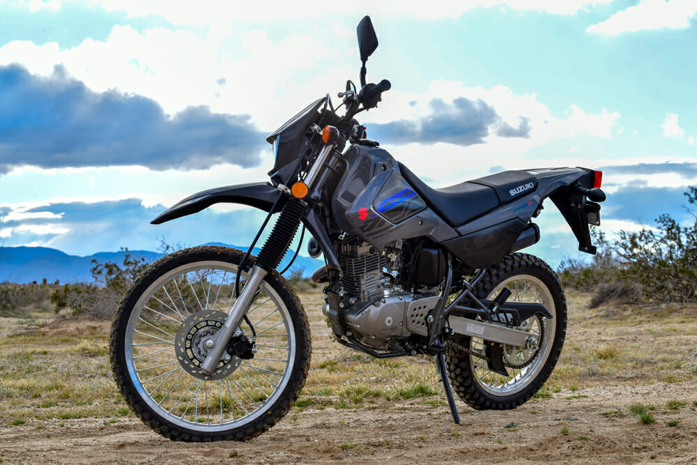 The 2020 Suzuki DR200S is an ideal bike for learning how to ride a motorcycle.