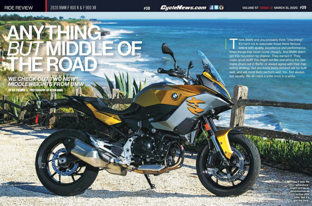 Cycle News Review 2020 BMW F 900 R and F 900 XR