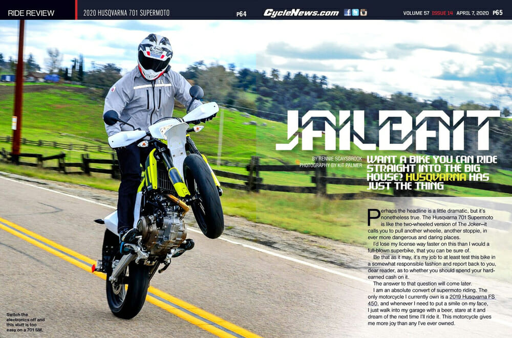 2020 Husqvarna 701 Supermoto Review | Want a bike you can ride straight into the big house? Husqvarna has just the thing