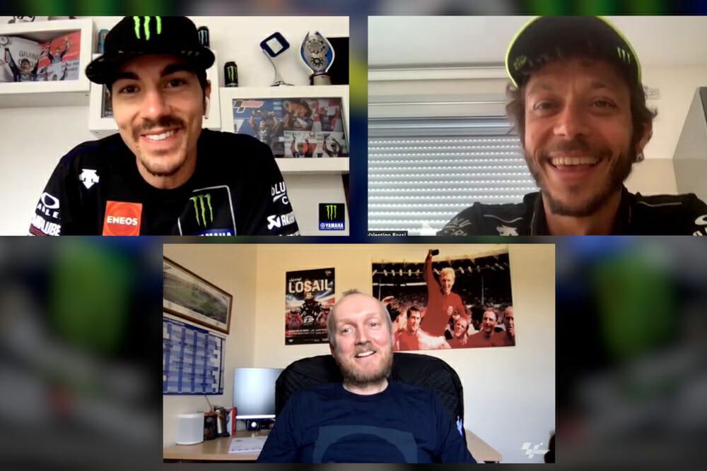 Maverick Vinales & Valentino Rossi Interview
