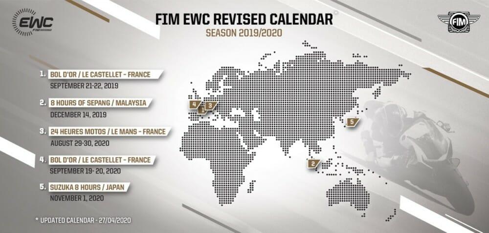 2019-20 FIM EWC Calendar