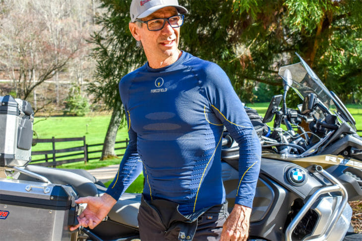 The Forcefield Tech 2 is a high-performance base-layer garment designed to help regulate body temps in all conditions