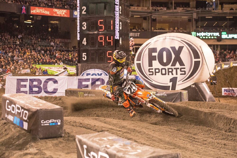 Andrew Short finished out his motocross/supercross career riding a KTM.