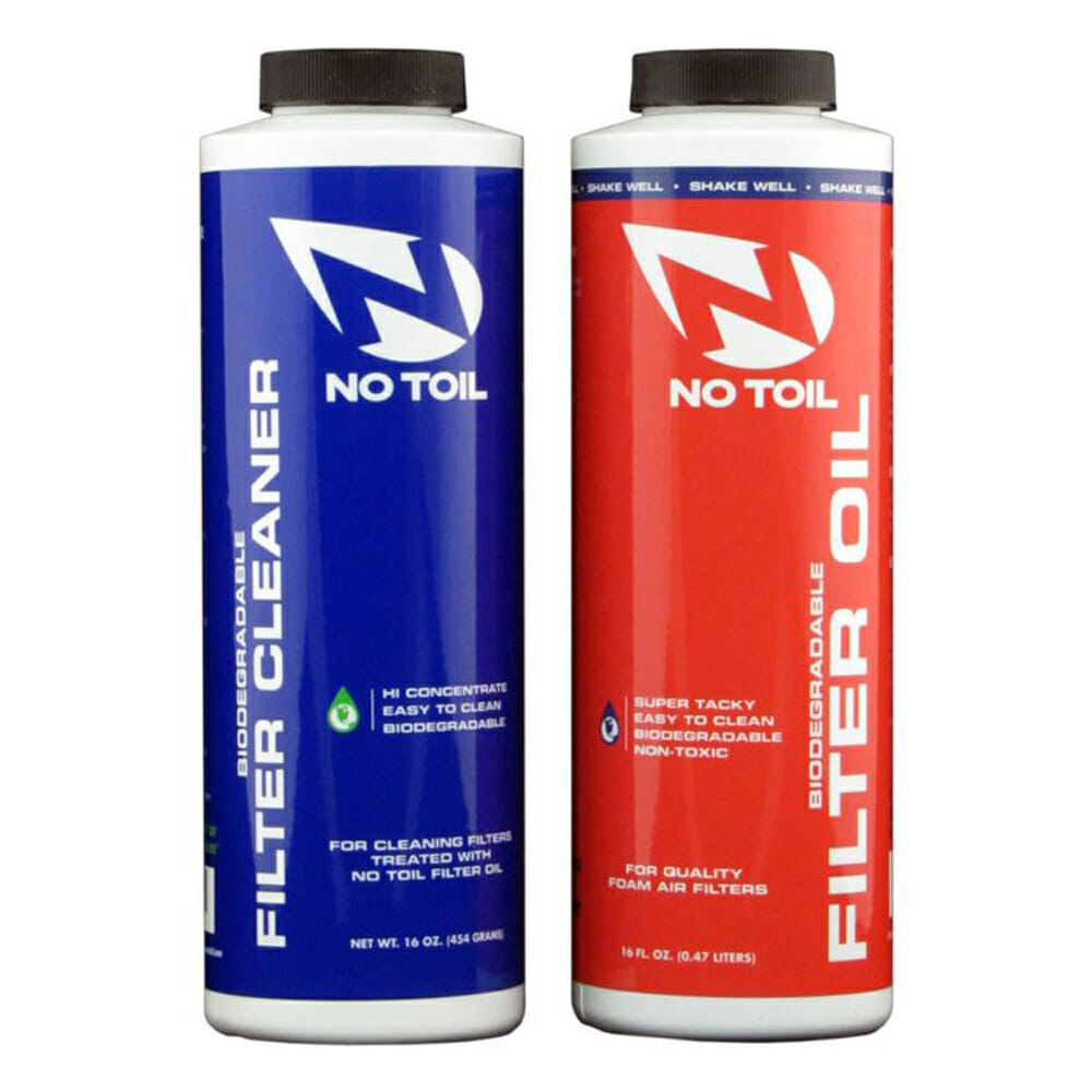 No-Toil air-filter oil and cleaner