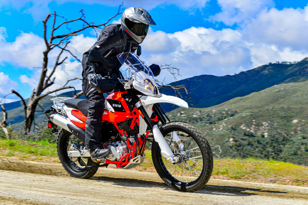 The Italian-made SMW Superdual X bridges the gap between a full-size dual-sport bike and a lightweight ADV bike.
