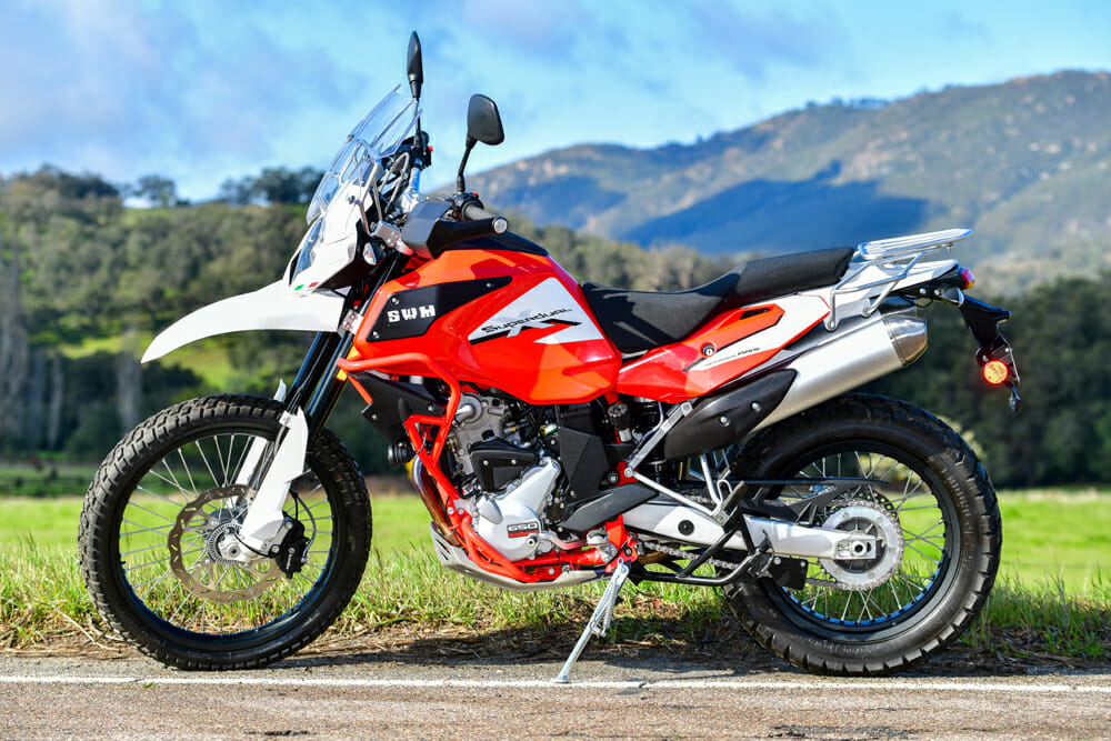At the heart of the SMW Superdual X is a 2011 Husqvarna TE630.
